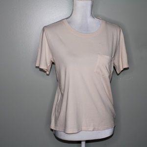 everlane women Tan cotton T-shirt SZ XS